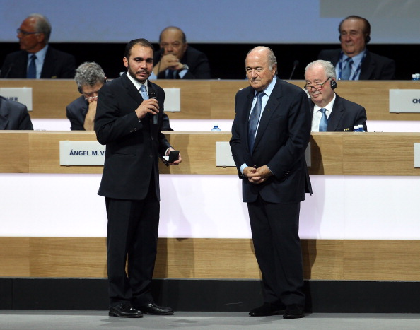 Prince Ali Bin Al Hussein (left) and Sepp Blatter (right) will go up against each other in the FIFA Presidential election in May ©Getty Images
