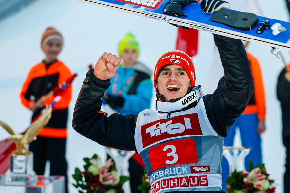 Richard Freitag won the third leg of the Four Hills Tour in Innsbruck ©Getty Images
