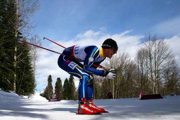 Russia's Vladimir Udaltcov won the men's visually impaired cross-country sprint title ©Getty Images
