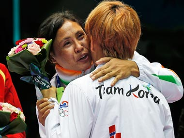 Sarita Devi was banned after refused to accept the bronze medal she won in Incheon ©Getty Images