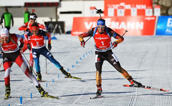 Schempp had to use his trademark sprint finish to claim a narrow victory over Simon Eder ©Getty Images