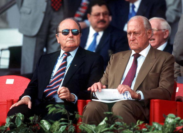 Sepp Blatter replaced Joao Havelange as FIFA President in 1998 and is odds on favourite to be re-elected ©Bongarts/Getty Images