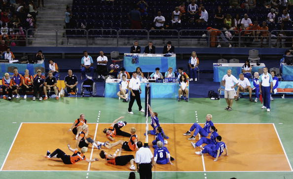 Sitting volleyball featured at the Athens 2004 Paralympic Games, where Brent Rasmussen captained the United States men's team to a bronze medal ©Getty Images