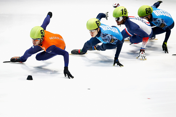 Sjinkie Knegt (left) won gold and silver for the host nation ©Getty Images