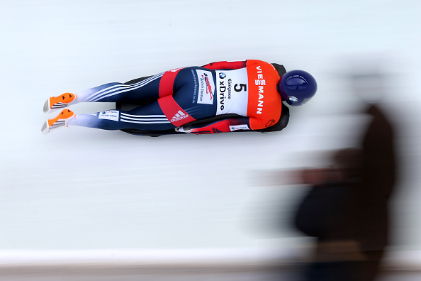 Sochi 2014 Olympic champion Lizzy Yarnold secured her second World Cup victory of the season ©Bongarts/Getty Images