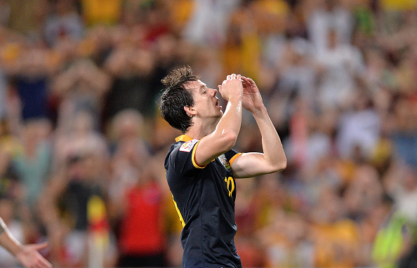 Substitute Robbie Kruse nearly bagged a dramatic equaliser but his effort was well saved by Kim Jin-Hyeon ©Getty Images