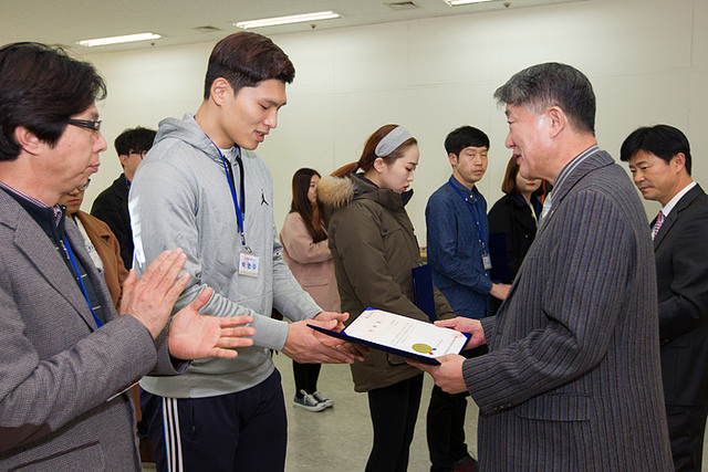 The 25 new online bloggers were announced at an appointment ceremony at the Gwangju 2015 headquarters ©Gwangju 2015