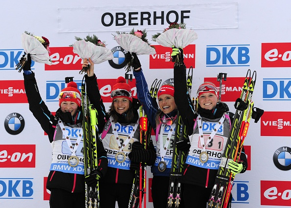 The Czech Republic claimed victory in the 4x6km relay event at the IBU World Cup Biathlon in Oberhof ©Getty Images