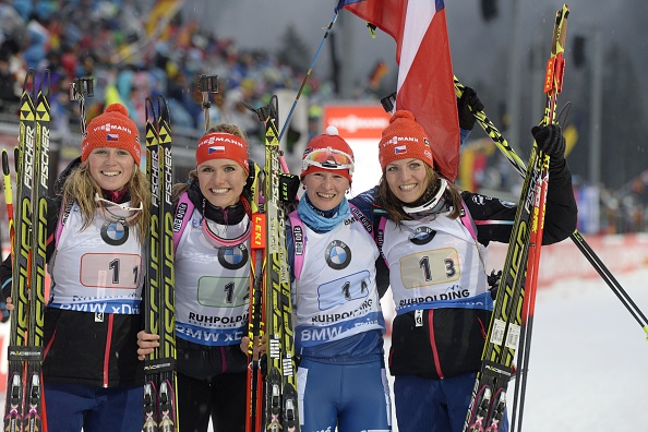 The Czech Republic quartet proved too strong in the relay discipline once again as they won the 4x6km in Ruhpolding ©Getty Images