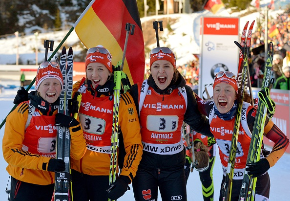 The German women went one better than the men as they strolled to a commanding victory in Antholz
