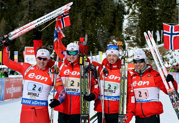 The Norwegian quartet came back from a tough opening two exchanges to seal a second consecutive relay triumph ©Getty Images