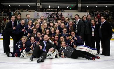 The United States have won the IIHF World Women's U18 Championships ©Francois Laplante/HHOF/IIHF Images