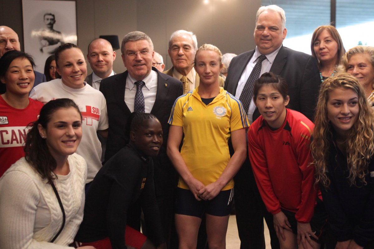 The United World Wrestling announcements came a day after the launch of the Super 8 campaign in the presence of IOC President Thomas Bach ©UnitedWorldWrestling