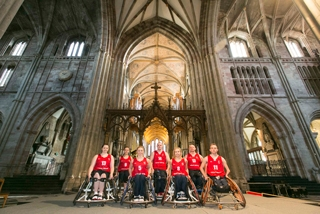 The draw was conducted at Worcester Cathedral in Worcestershire, England ©Great Britain Wheelchair Basketball