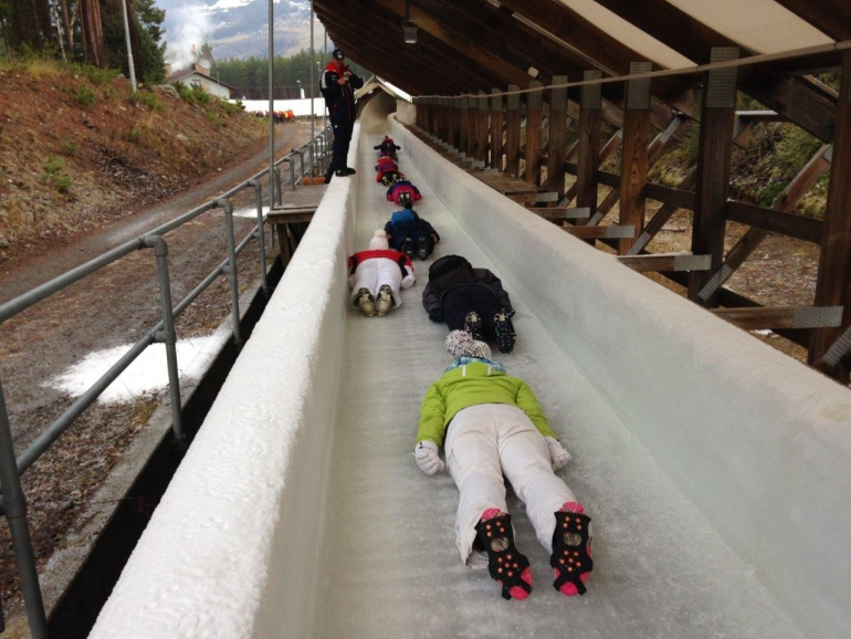 The eight athletes - four women and four men - were chosen from more than 1,000 applicants after going through multiple stages of testing ©British Skeleton