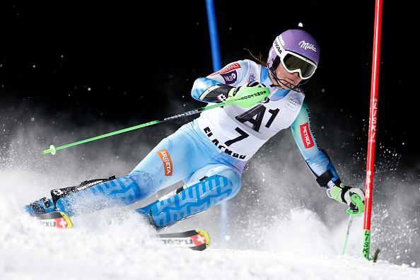 Tina Maze extended her lead at the top of the overall World Cup leaderboard with a second-placed finish in Flachau