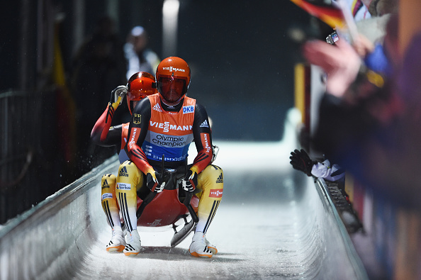 Toni Eggert and Sascha Benecken won the doubles on a great day for German luge ©Getty Images