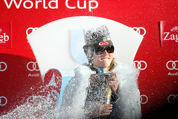 US star Mikaela Shiffrin earned the title of Snow Queen after winning in Zagreb ©AFP/Getty Images