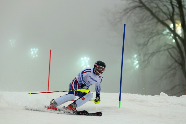 Valerii Redkozubov and guide Evgeny Geroev claimed their fourth gold of the week at the IPC Alpine Skiing World Cup ©Getty Images