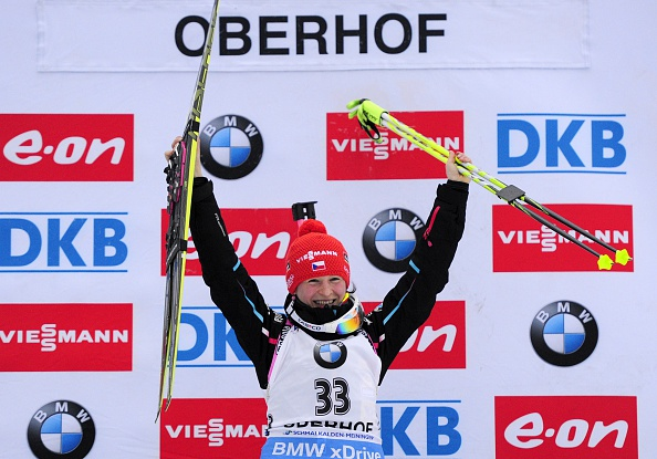 Veronika Vitkova claimed the first individual victory of her World Cup career in Oberhof, Germany ©Getty Images