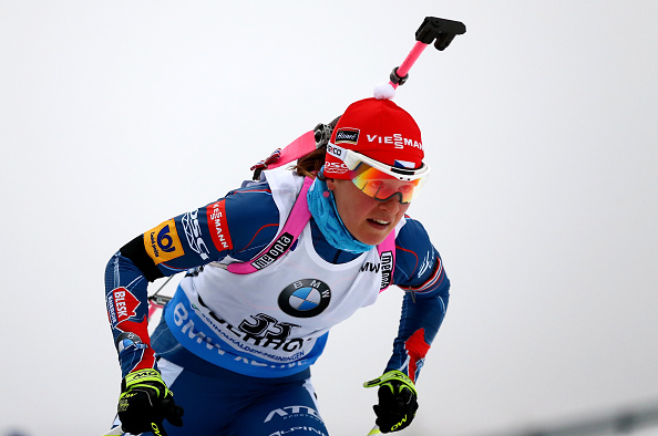 Veronika Vitkova finished ahead of Italians Dorothea Wierer and Nicole Gontier ©Getty Images