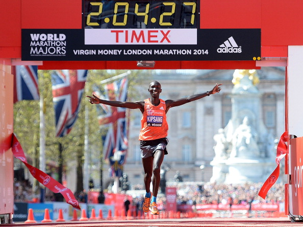 Wilson Kipsang will look to repeat his 2014 triumph at the London Marathon ©Getty Images