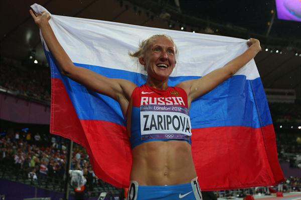 London 2012 Olympic steeplechase champion Yulia Zaripova will be stripped of her title after receiving a two year ban ©etty Images