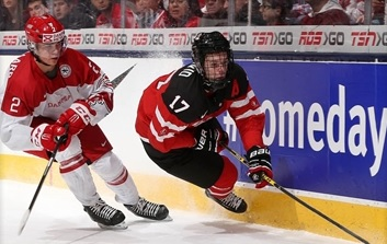 Canada were emphatic winners over Denmark to reach the semi-finals on home ice @Andre Ringuette/HHOF/IIHF Images