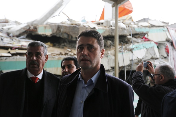 A FIFA delegation visit football facilities destroyed during the conflict in Gaza ©Getty Images