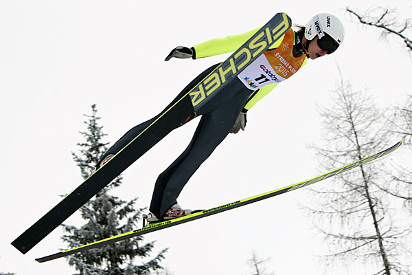 Irina Avvakumova continued Russia's gold medal success with a win in the ski-jump contest ©FISU