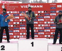 Martins Dukurs won a sixth successive European title in La Plagne ©FIBT
