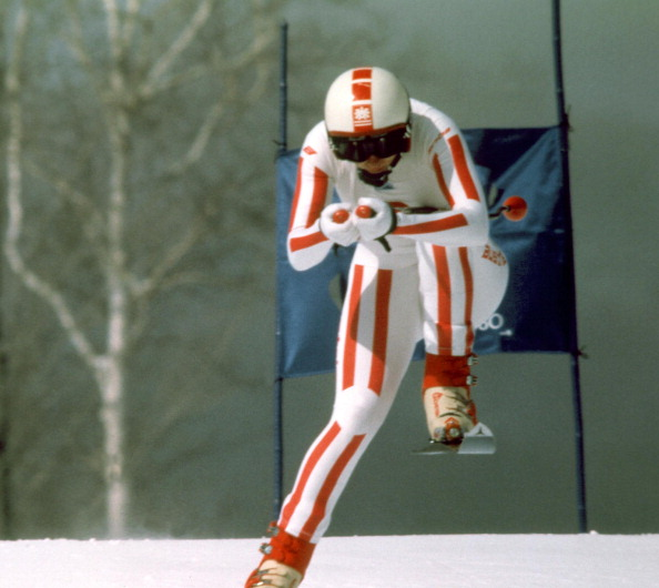 Austria's Annemarie Moser-Proll en route for Olympic gold in the 1980 winter Games downhill at Lake Placid, in New York state - which Gian Franco Kasper, FIS President, believes could form a joint bid with Quebec under the new arrangements regarding bidding agreed at the recent Agenda 2020 meeting in Monaco ©AFP/Getty Images