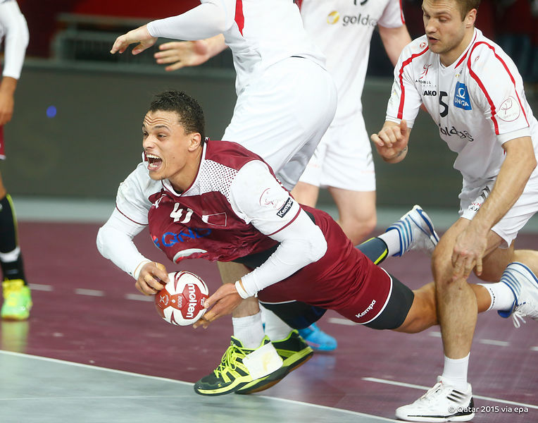 Qatar launched themselves into the last eight of the World Handball Championships for the first time tonight as they beat Austria 29-27 ©Qatar2015