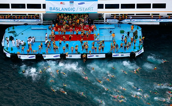 Applications for the 2015 Bosphorus Cross-Continental Swimming Race opened today ©National Olympic Committee of Turkey/Facebook