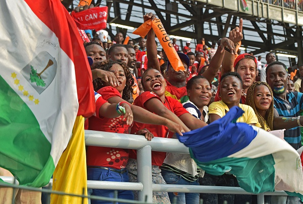 Equatorial Guinea supporters cheer on their team in Bata ©AFP/Getty Images
