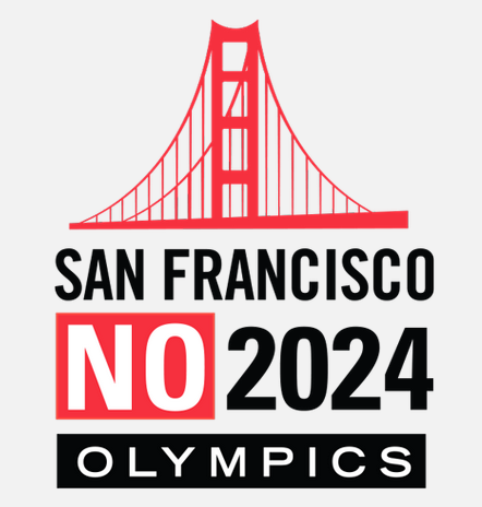 The symbol of protest against an Olympics where you should be sure to wear some flowers in your hair - the logo of the San Francisco No 2024 Olympics pressure group ©SF NO 2024
