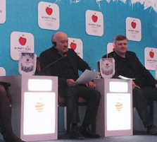 Almaty 2022 vice-president Andrey Kryukov (right) defended the use of a former doping cheat as a Bid Ambassador ©Almaty 2022
