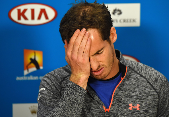 Andy Murray cut a dejected figure in the post-match press conference after he suffered his sixth Grand Slam final defeat ©Getty Images