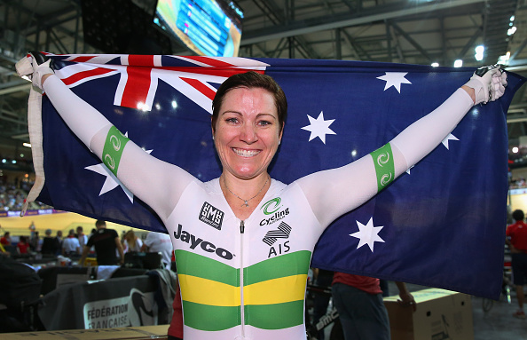 Anna Meares has more World Championship golds than any other woman following her Keirin win ©Getty Images