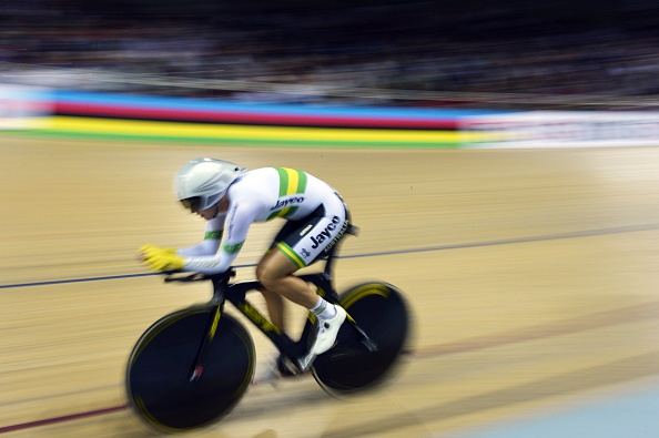 Rebecca Wiasak rode to victory in the women's individual pursuit at the UCI Track Cycling World Championships in Paris to continue Australia's domination ©AFP/Getty Images
