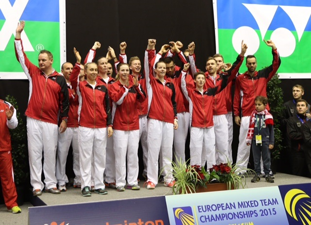 Denmark breezed past England to win the European Mixed Team Championship ©BadmintonEurope