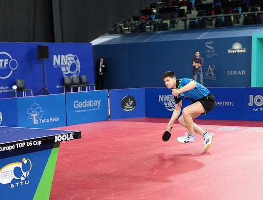 Dimitrij Ovtcharov beat defending champion Marcos Freitas to seal his qualification spot for the 2015 ITTF Men's World Cup ©ITTF
