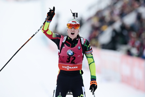Belarusian Darya Domracheva overtook nearest rival Kaisa Mäkäräinen at the top of the overall IBU World Cup standings with victory in Oslo ©Getty Images