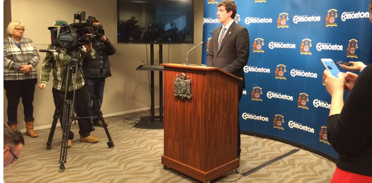 City of Edmonton Mayor Don Iveson announced at a special press conference today that they were withdrawing their bid to host the 2022 Commonwealth Games ©Twitter