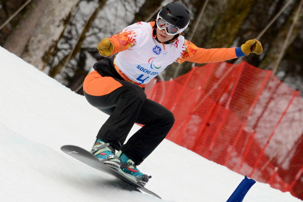 Dutch star Bibian Mentel-Spee continued her monopoly of the women's para-snowboarding events by claiming gold in the banked slalom ©Getty Images