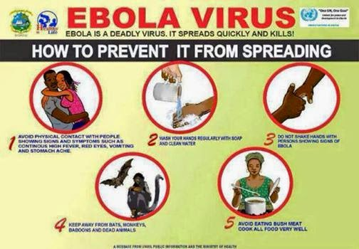 Olympic-themed messages are being used to try to help prevent the spread of Ebola ©WHO