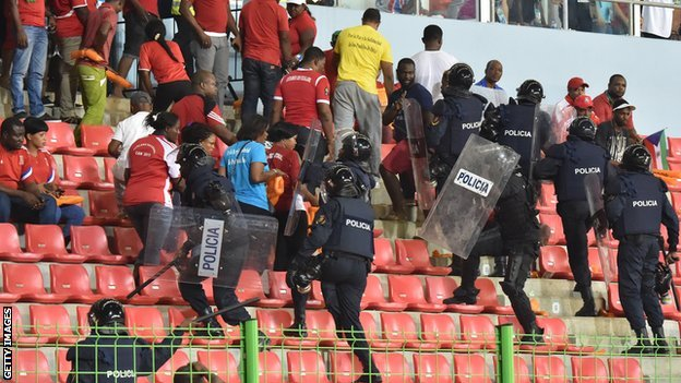 FIFA President Sepp Blatter claims the crowd violence that marred Ghana's semi-final with Equatorial Guinea has been exaggerated by the media ©Getty Images