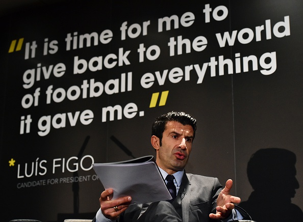 """Luis Figo proposed the expanded World Cup in his """"For Football"""" manifesto ©AFP/Getty Images"""