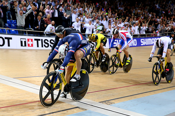 Francois Pervis retained his men's keirin world title in front of a home crowd ©Getty Images