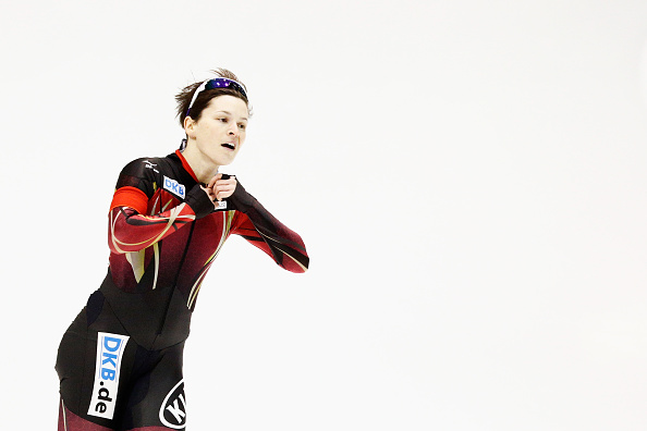 Germany's Judith Hesse won a tight women's 500m race at the ISU Speed Skating World Cup in Heerenveen as she finished just 0.02 ahead of Lee Sang-hwa ©Getty Images
